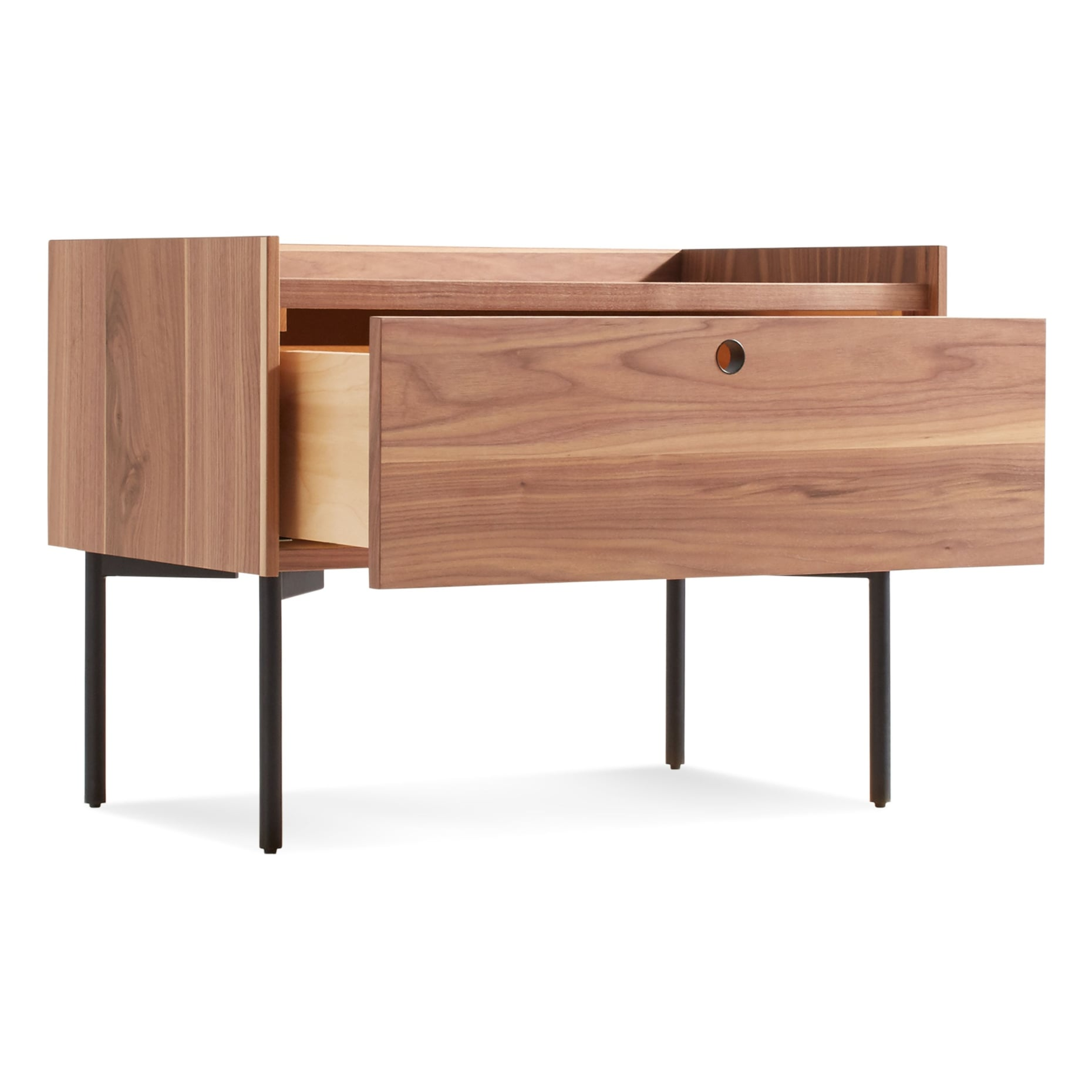 ek1 ntstnd wl 34 open peek nightstand rustic walnut