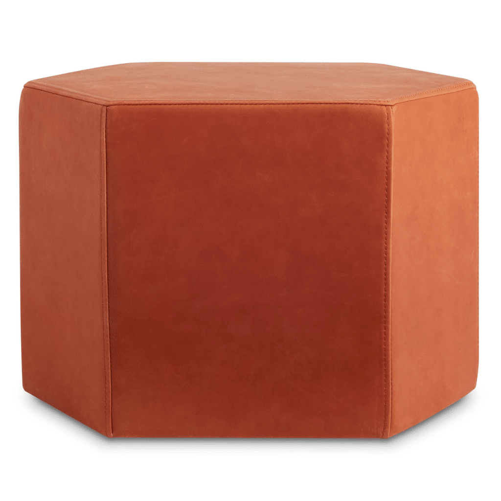 Hecks Modern Leather Ottoman D3 Home Modern Furniture