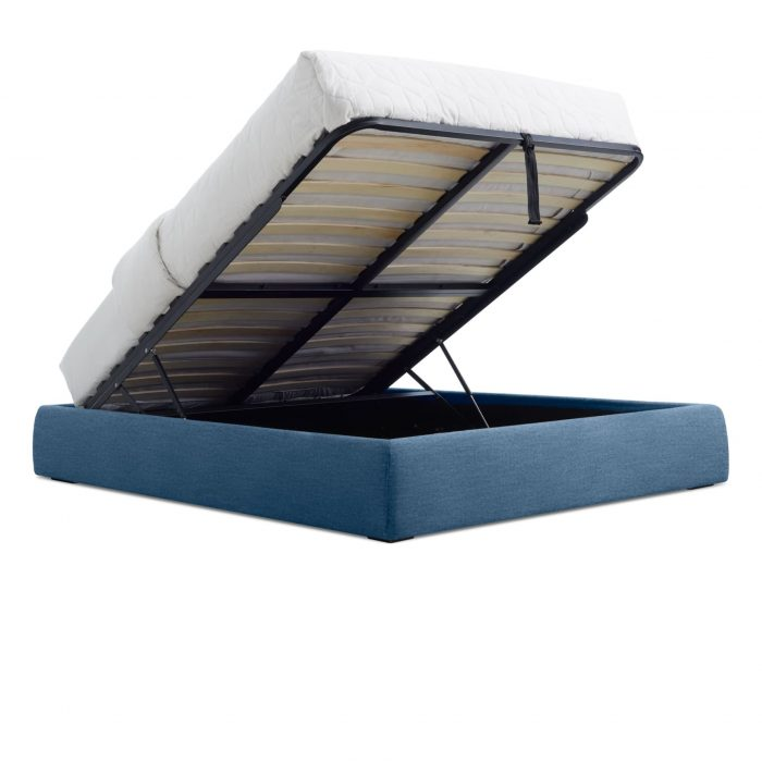 ld1 quenbd mb 34low openslant lid queen platform storage bed thurmond marine blue