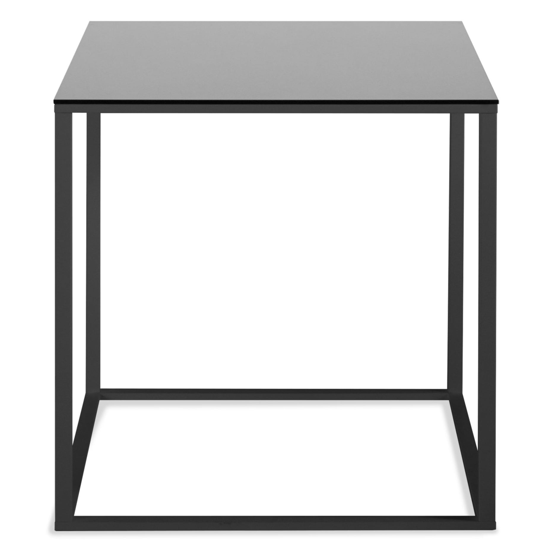 minimalista side table black black mirror