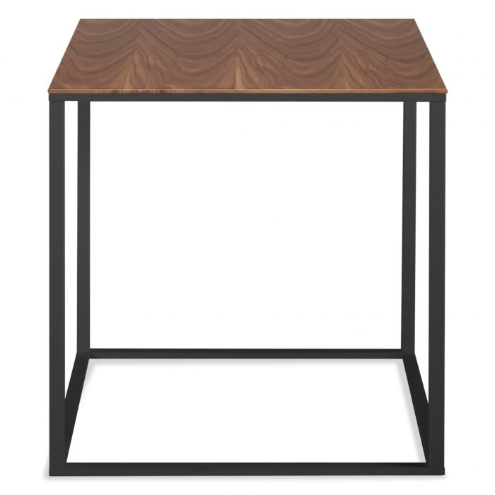 minimalista side table black walnut mirror