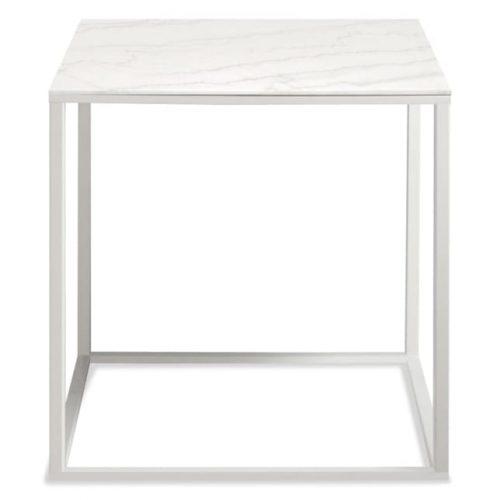 minimalista side table white marble mirror 1