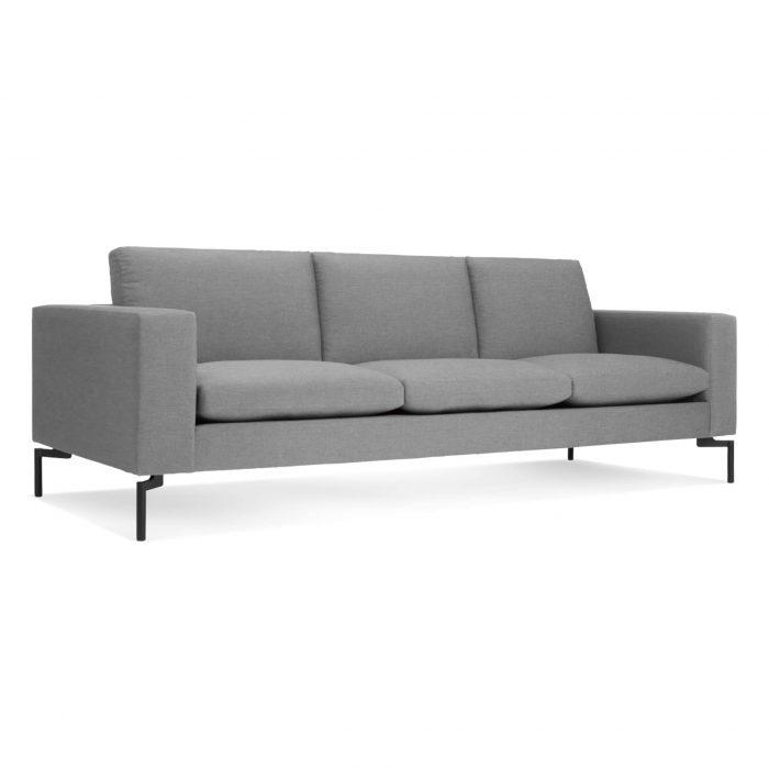 new standard 92 sofa spitzer grey black 3 4 3