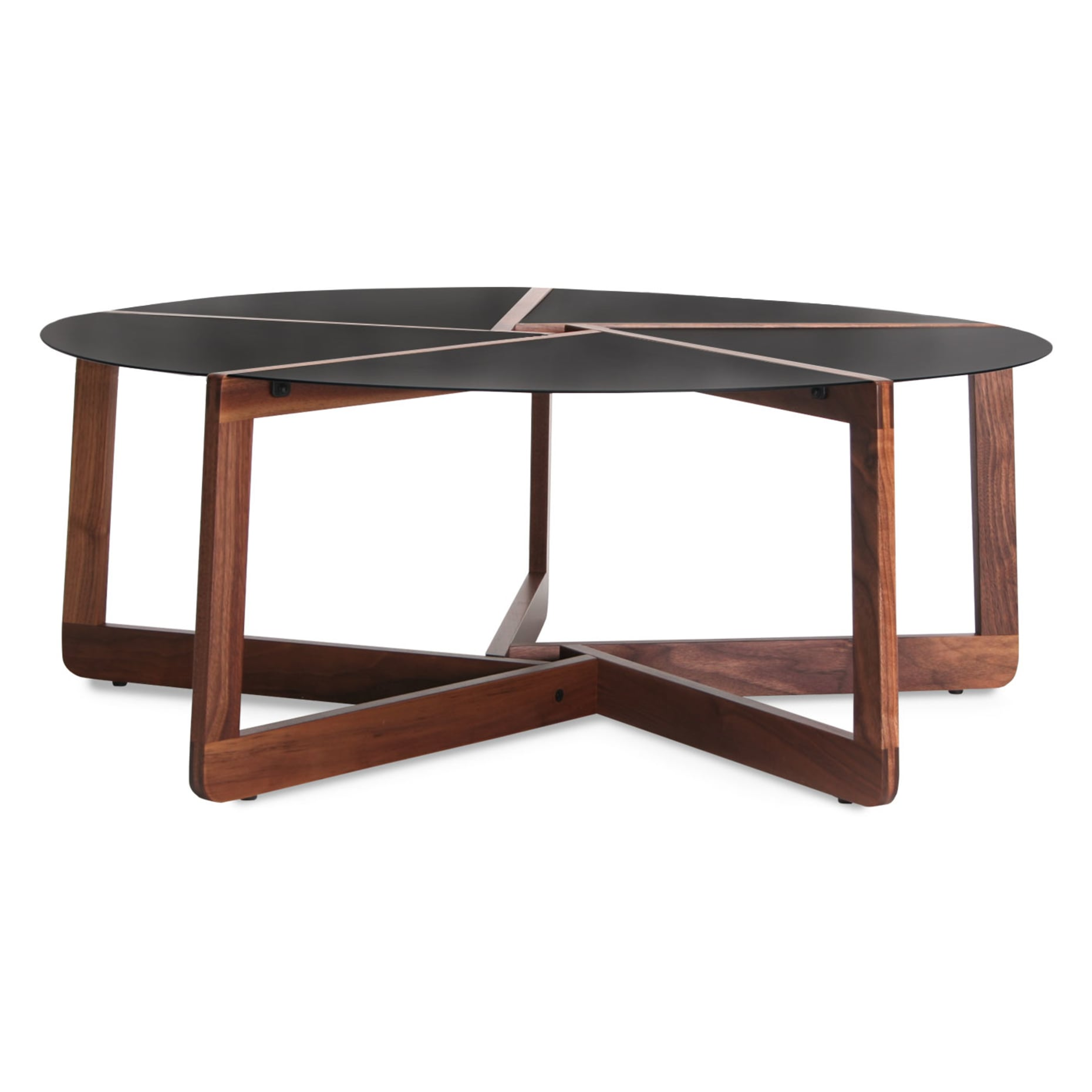 pi modern coffee table walnut