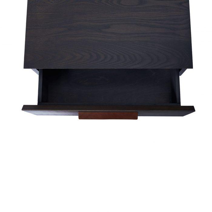shale modern nightstand open smoke