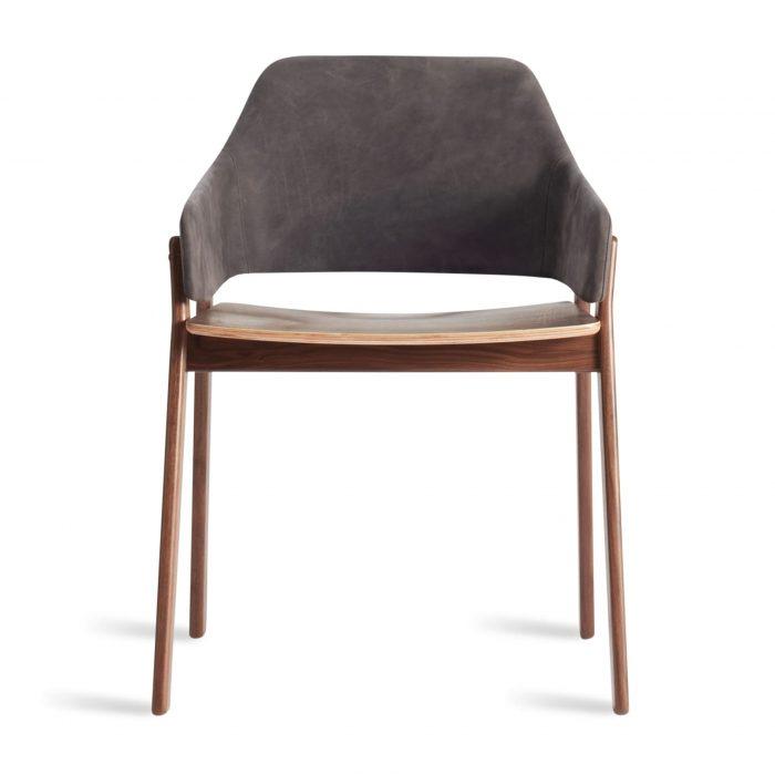 cc1 chrwal sl clutch dining chair walnut slate leather