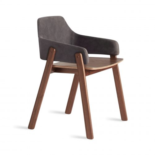cc1 chrwal sl 34 clutch dining chair walnut slate leather