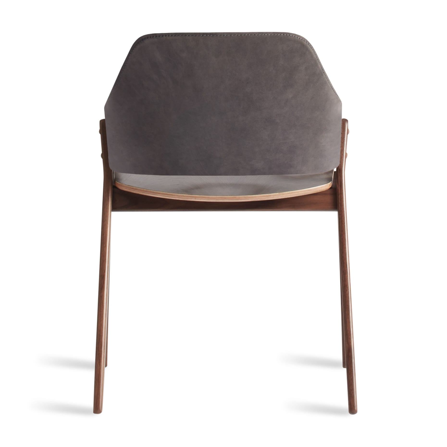 cc1 chrwal sl back clutch dining chair walnut slate leather