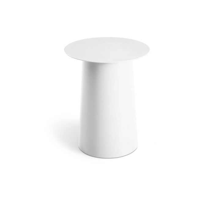 ci1 talsid wh fronthigh circula tall side table white
