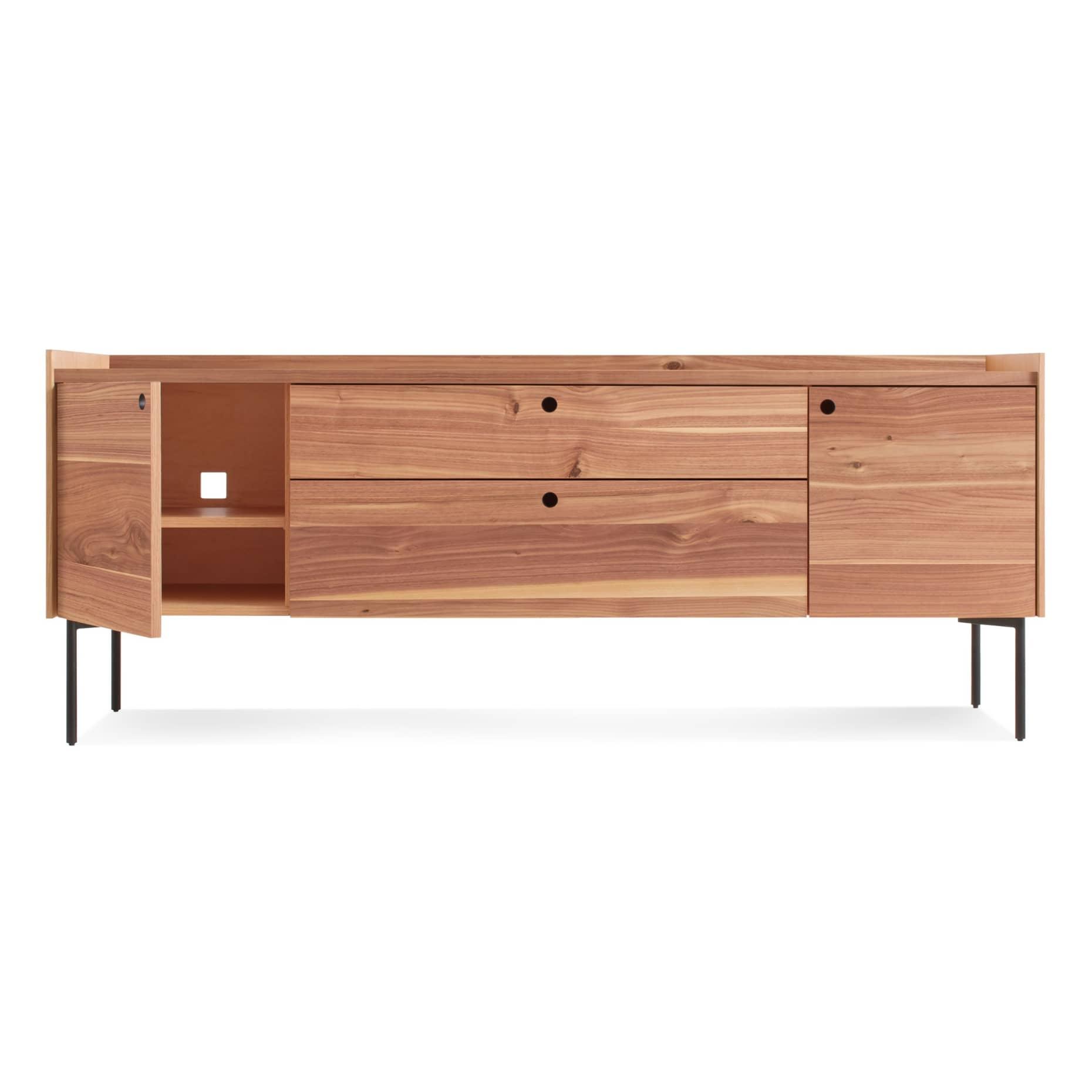 ek1 2d2drw wl open peek 2 door 2 drawer console rustic walnut 1