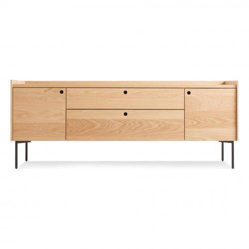 ek1 2d2drw wo peek 2 door 2 drawer console white oak