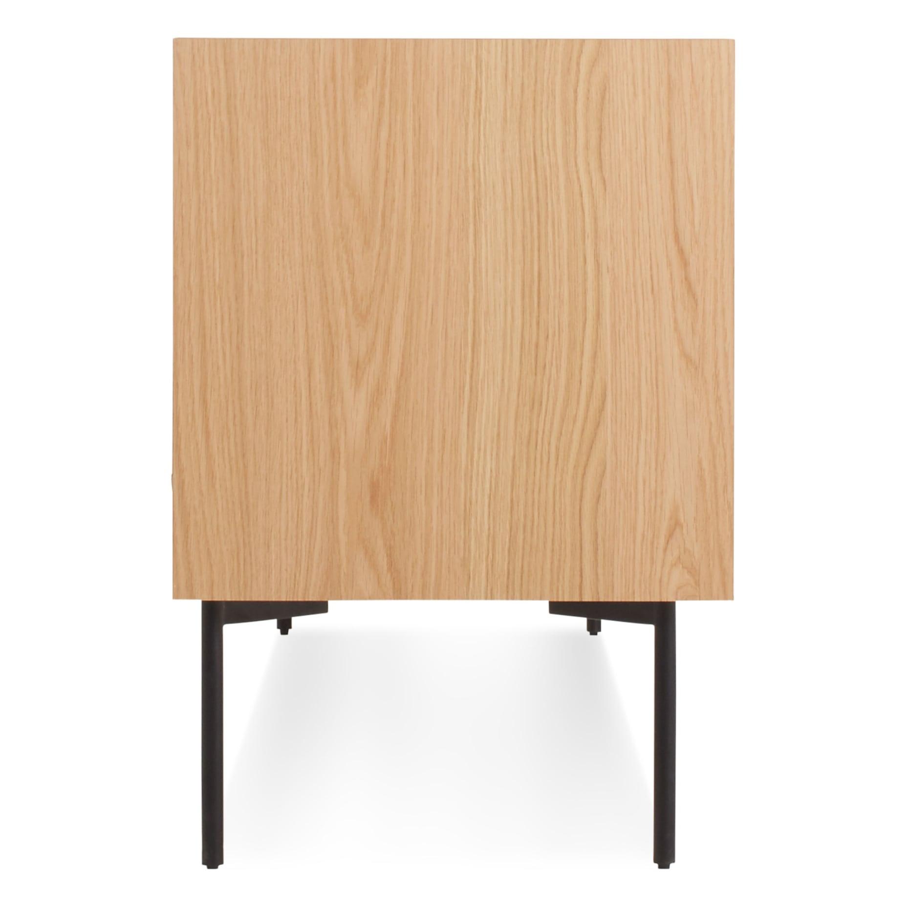 ek1 2d2drw wo side peek 2 door 2 drawer console white oak 1