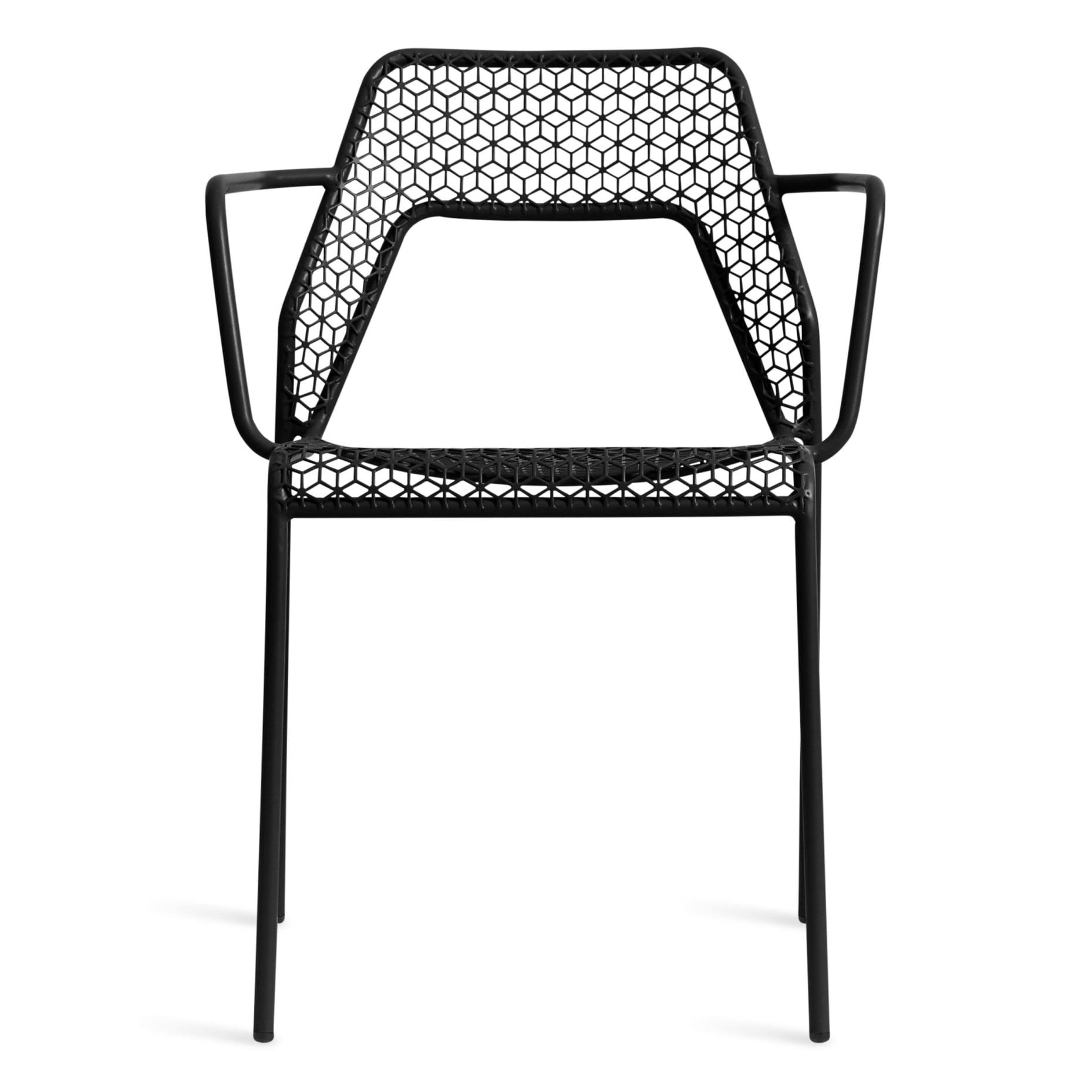 hm1 armchr bk hot mesh armchair black