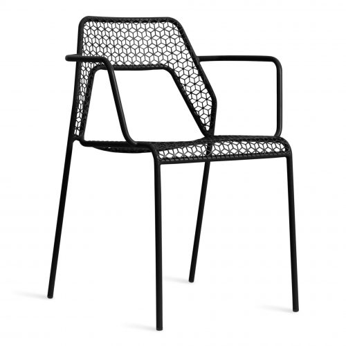 hm1 armchr bk 34 hot mesh armchair black