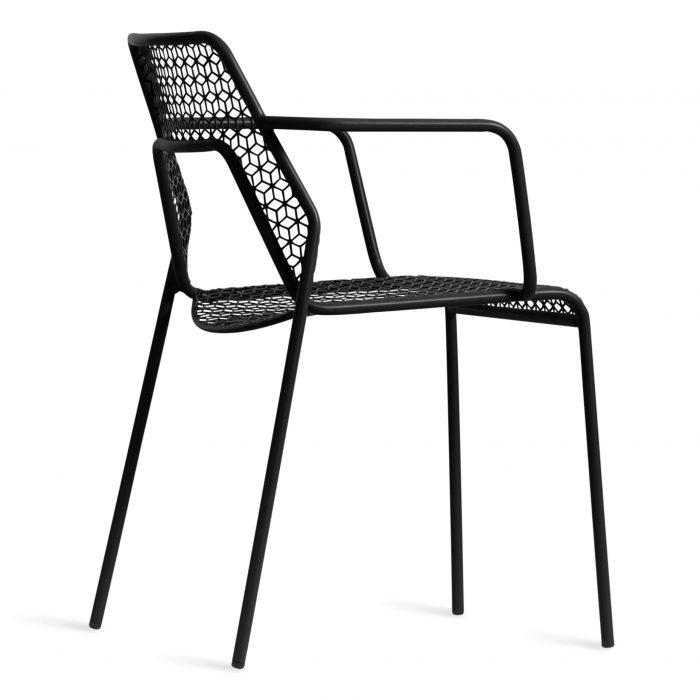 hm1 armchr bk 34back hot mesh armchair black