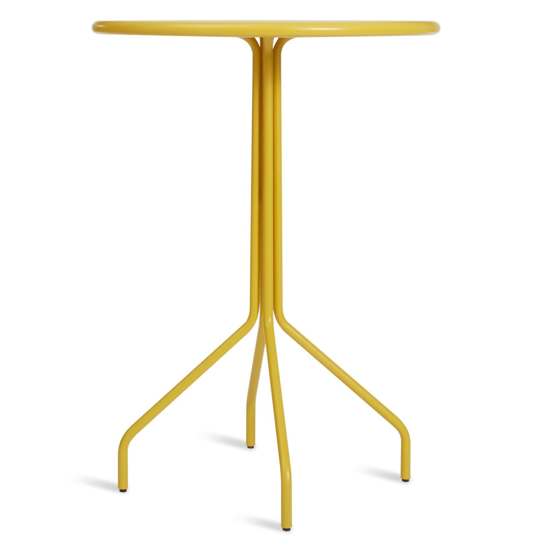 hot mesh bar table yellow low 1 2