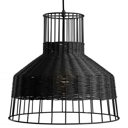 la1 mdwire bk laika medium pendant light black