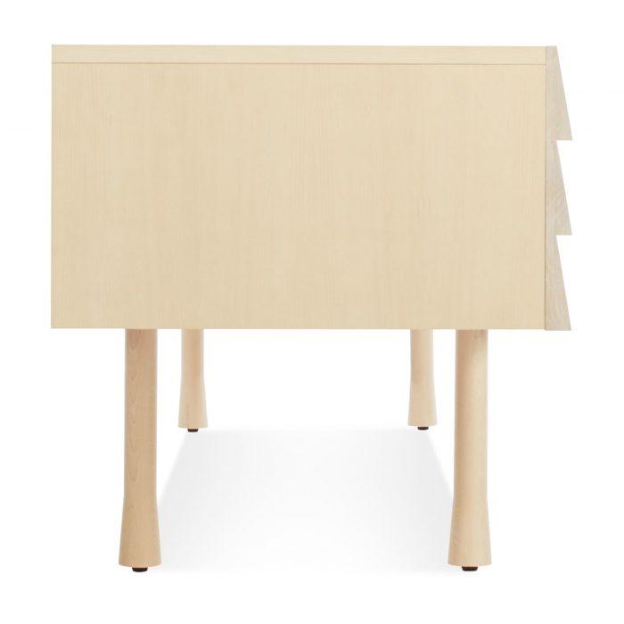 lap 3 drawer dresser maple side 4