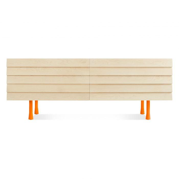 lap 4 drawer low dresser orange
