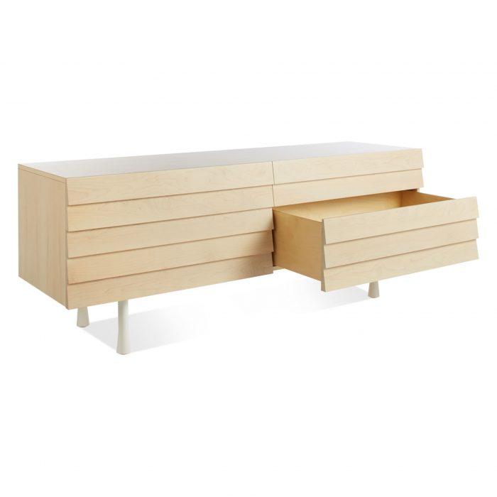 lap 4 drawer low dresser white 3 4 bottom drawer