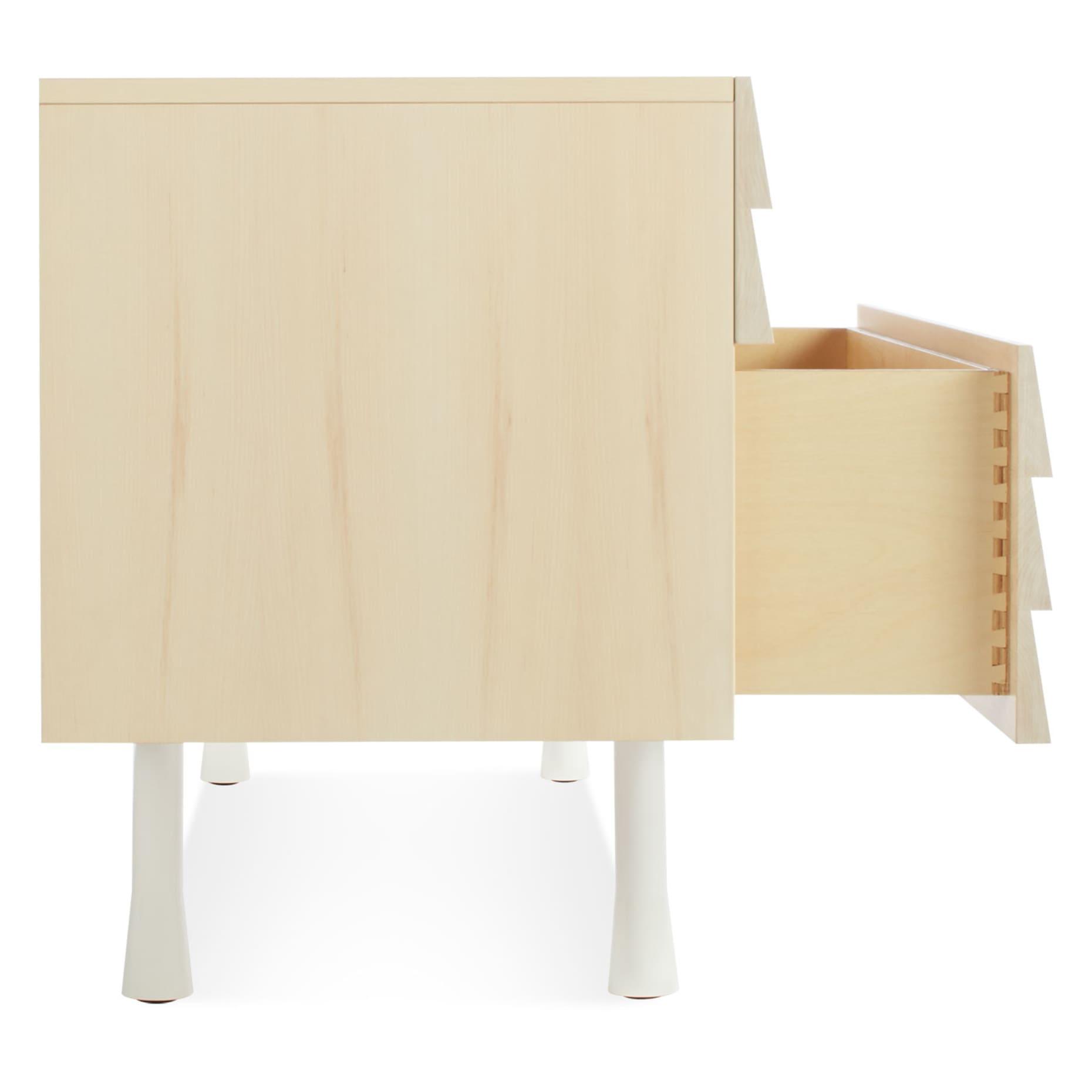 lap 4 drawer low dresser white 3 4 side drawer 2