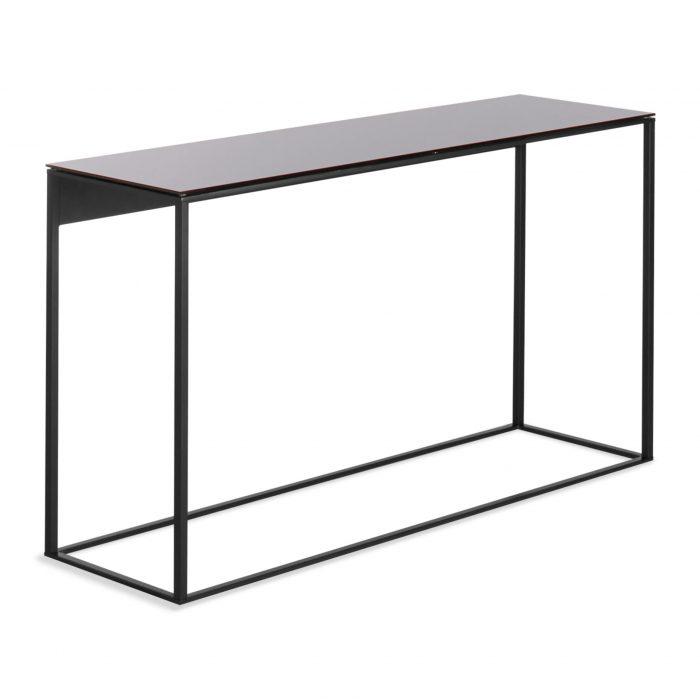 minimalista console table black black mirror 3 4 3