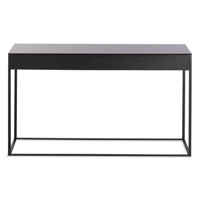 minimalista console table black black mirror back 3