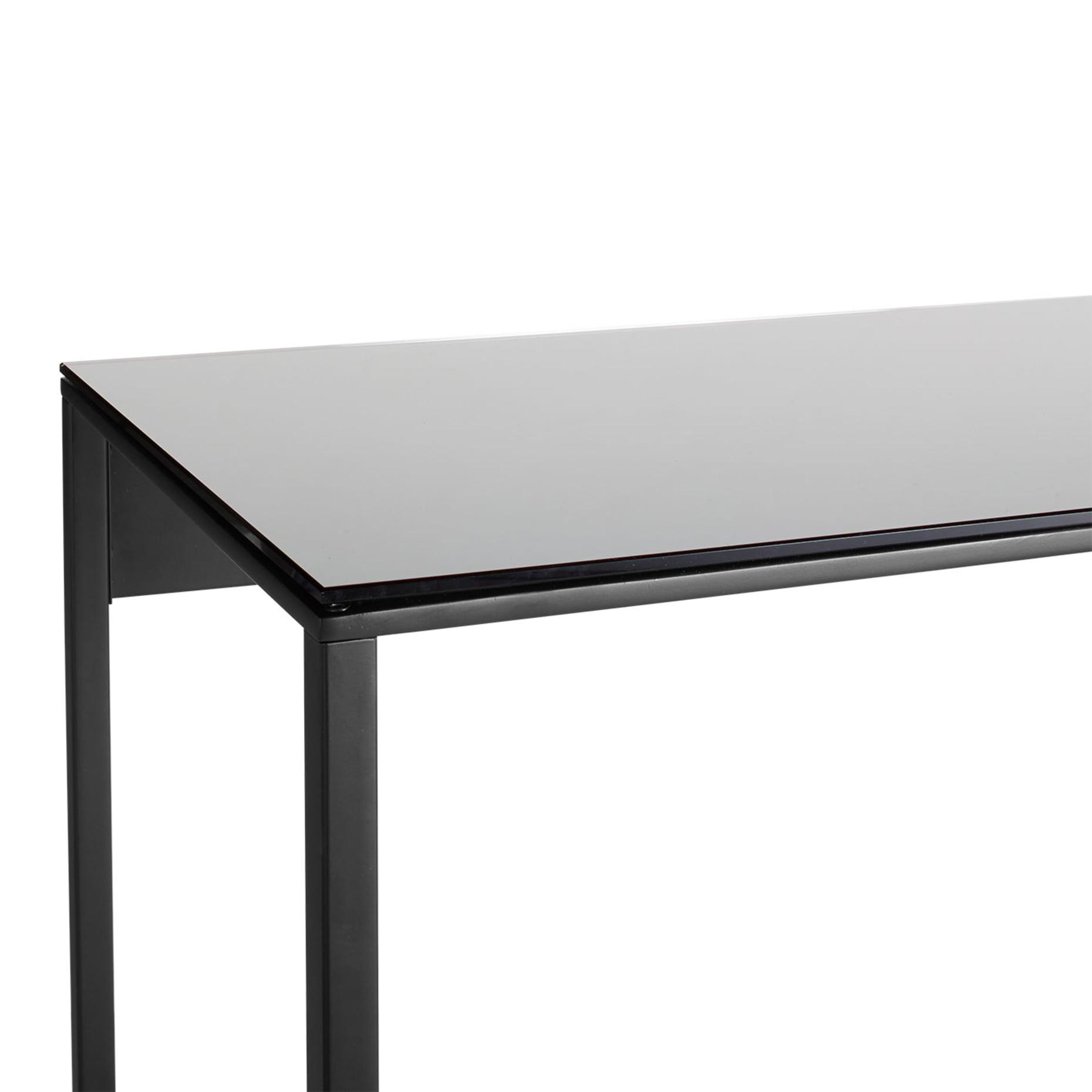 minimalista console table black black mirror detail 3