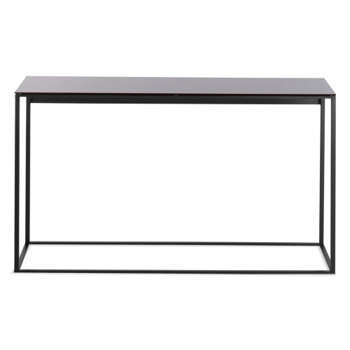 minimalista console table black black mirror front
