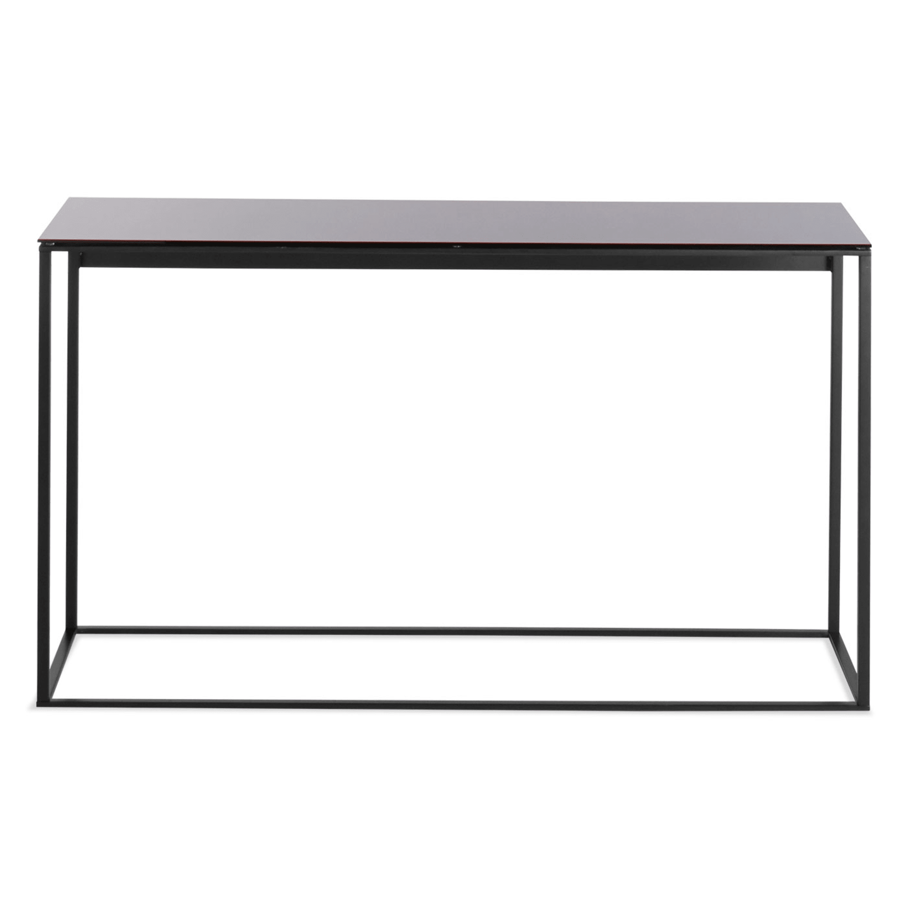 minimalista console table black black mirror front