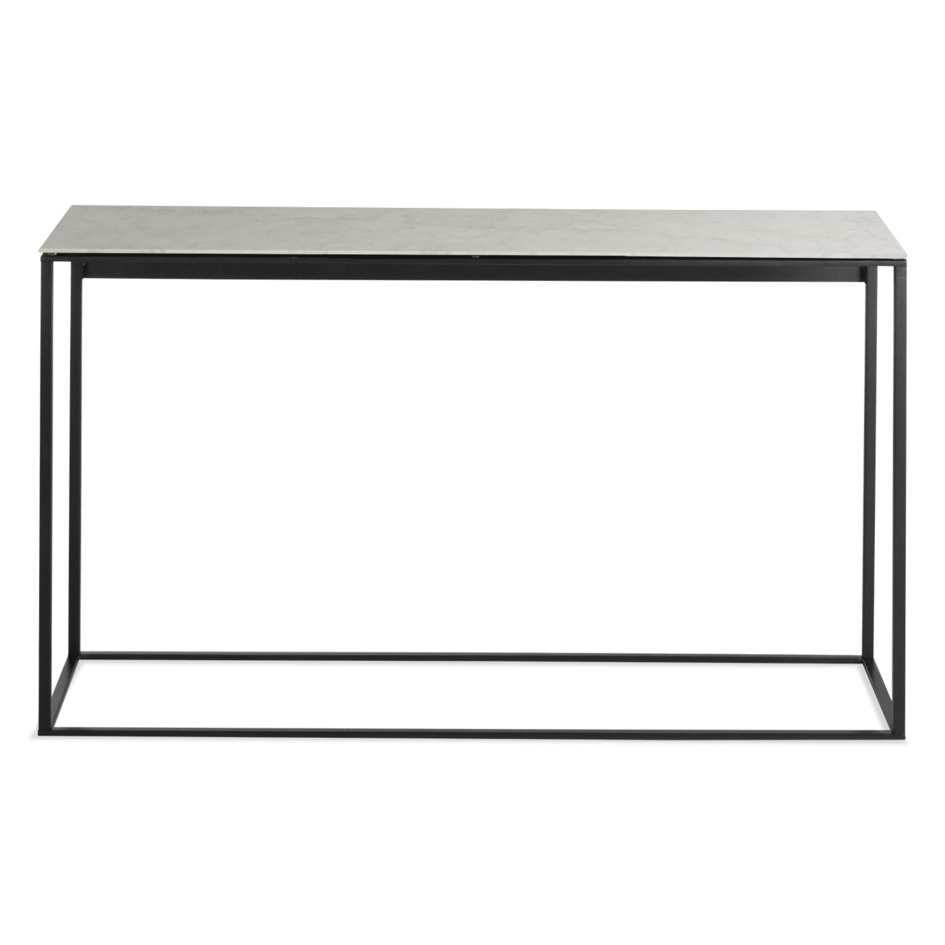 minimalista console table black marble mirror front 1