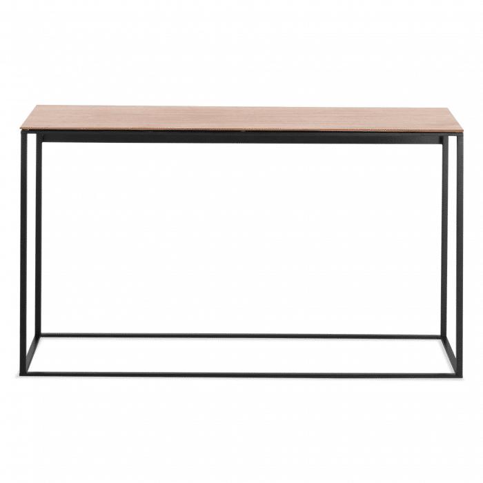 minimalista console table black walnut mirror front