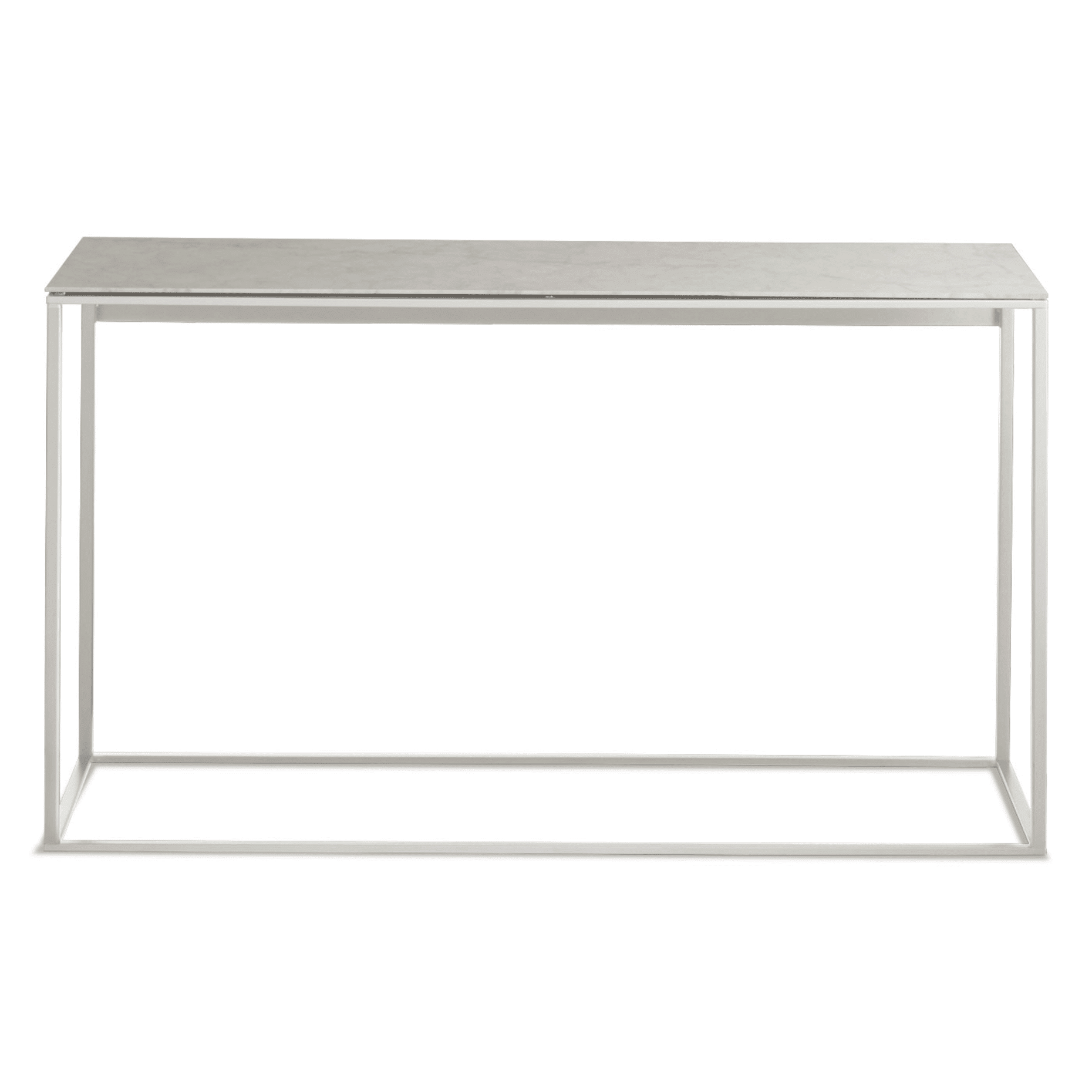 minimalista console table white marble mirror front