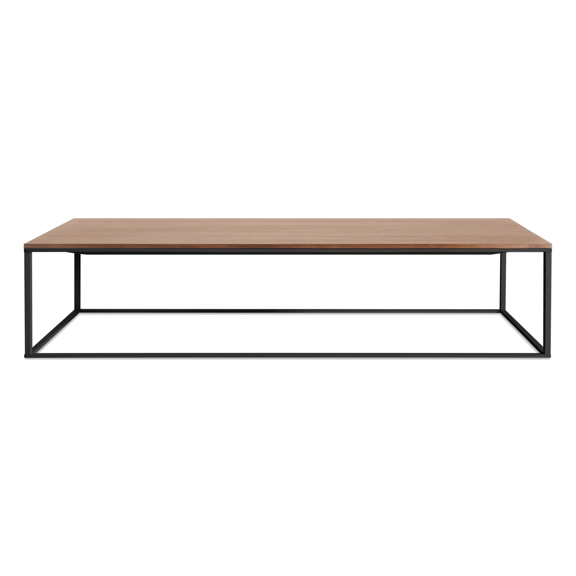 mn1 lcofbk wl minimalista large coffee table black walnut