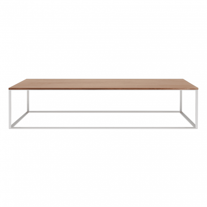 mn1 lcofss wl minimalista large coffee table stainless steel walnut