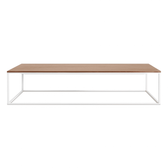 mn1 lcofwh wl minimalista large coffee table white walnut