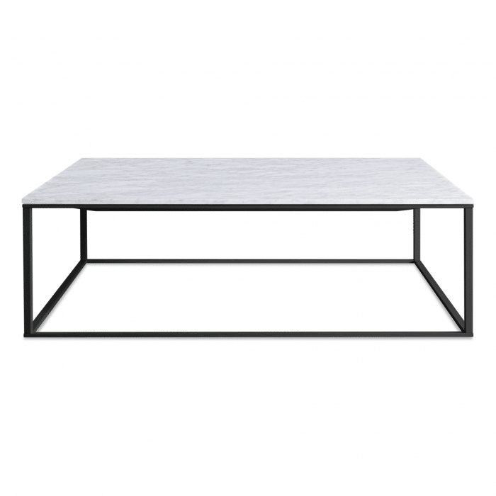 mn1 sqcfbk mb minimalista square coffee table black marble