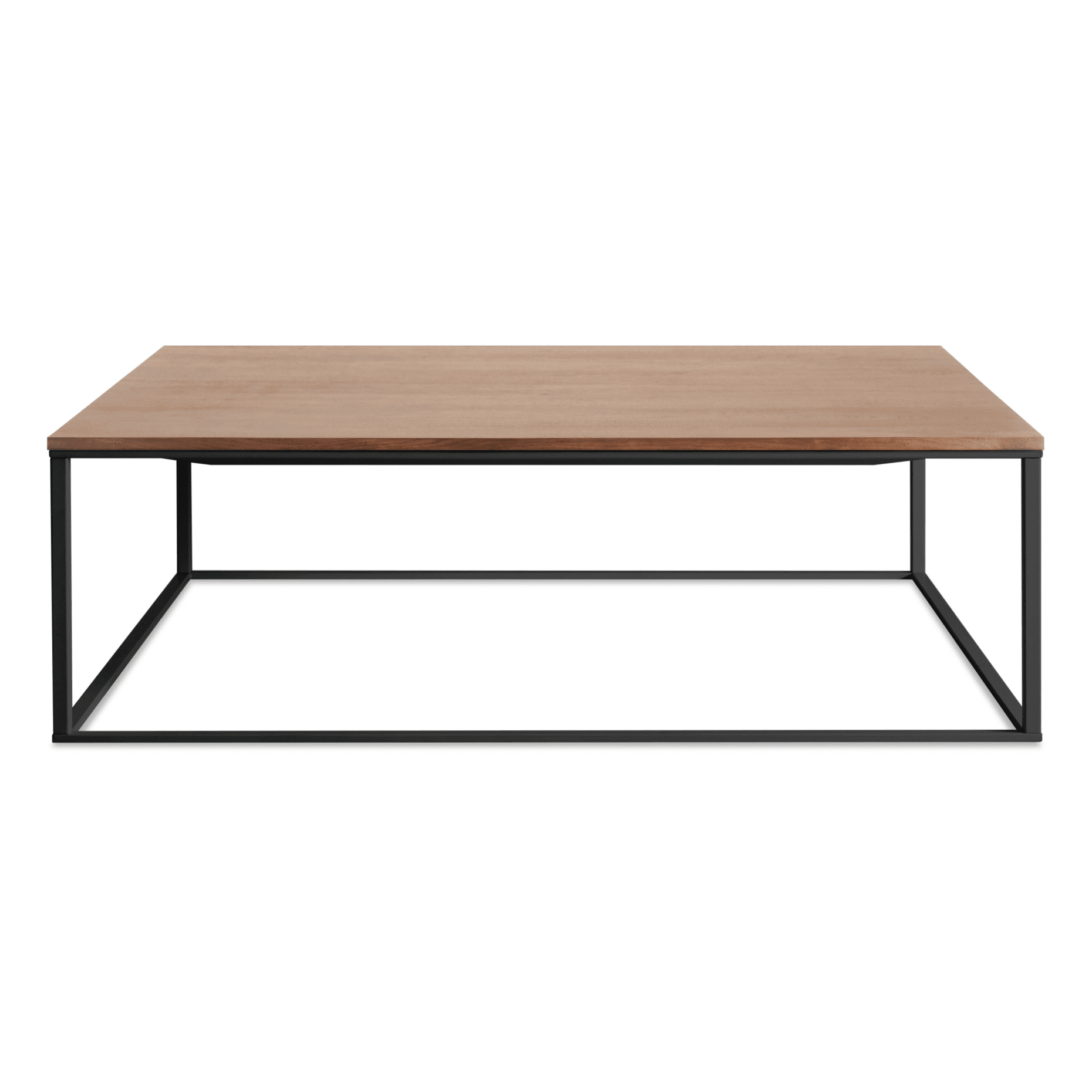 mn1 sqcfbk wl minimalista square coffee table black walnut