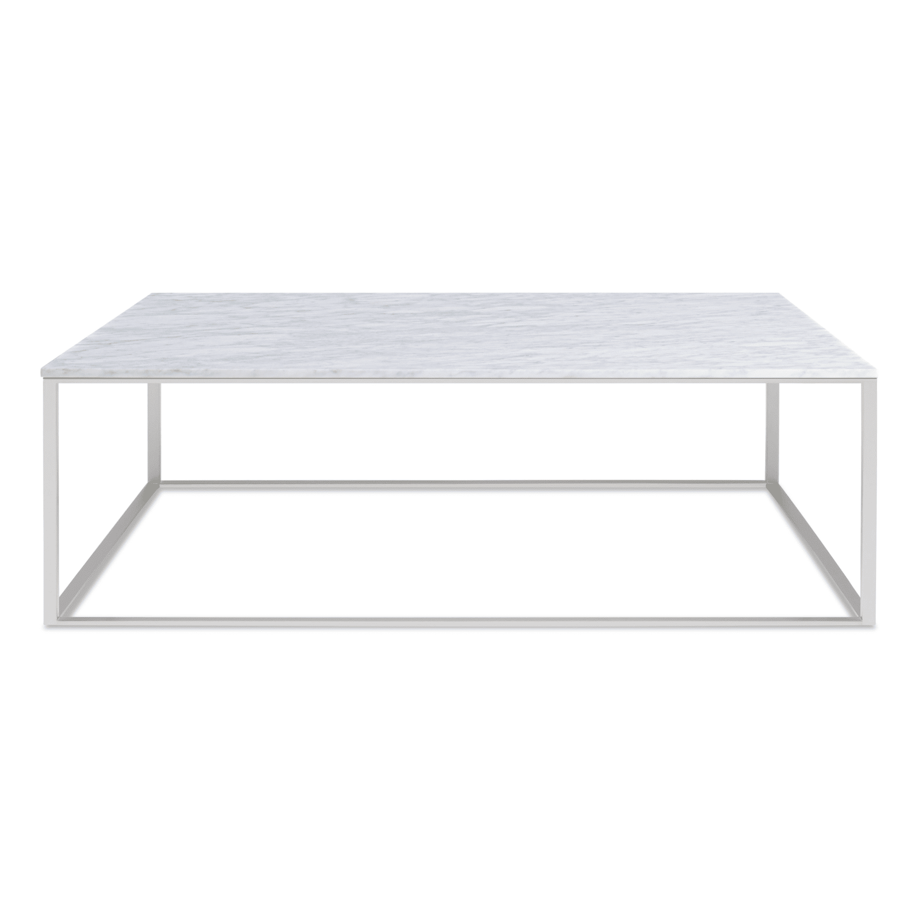 mn1 sqcfss mb minimalista square coffee table stainless steel marble