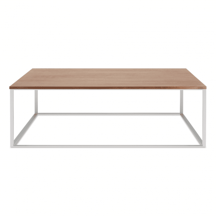 mn1 sqcfss wl minimalista square coffee table stainless steel walnut