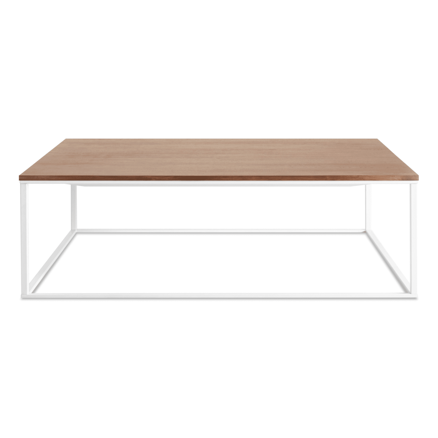 mn1 sqcfwh wl minimalista square coffee table white walnut