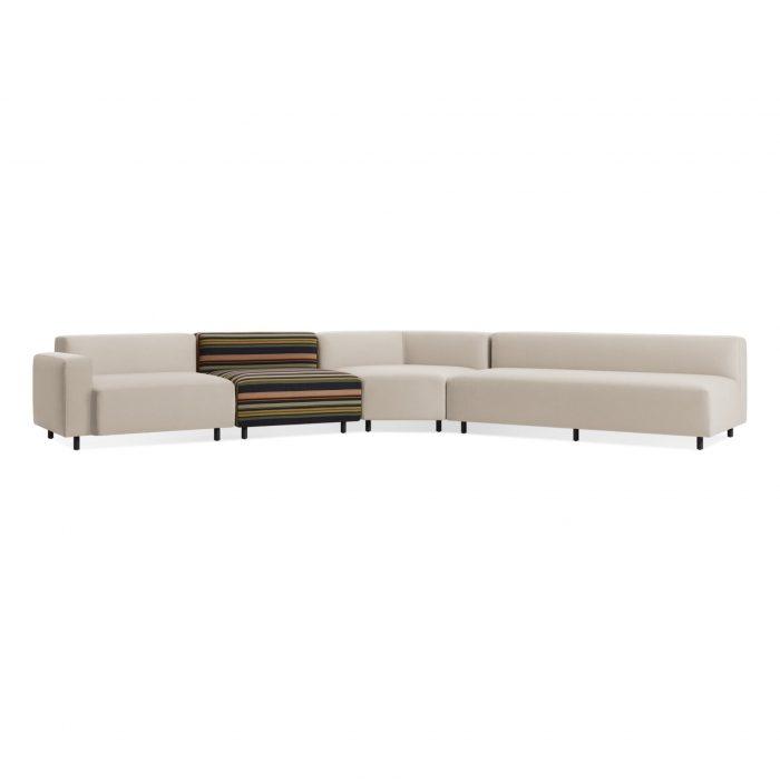 ny1 lalsec st 34low 9 yard left arm angled sectional sofa sunbrella linen stripe 1