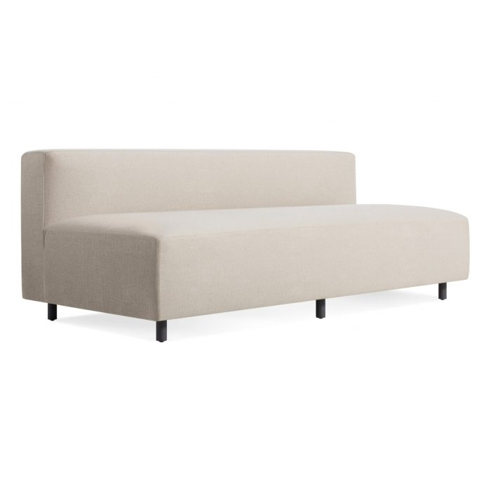 ny1 narmsf ln 34frontlow 9 yard armless sofa sunbrella linen