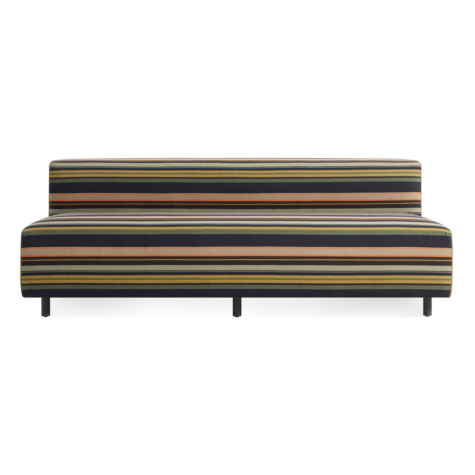 ny1 narmsf st frontlow 9 yard armless sofa sunbrella stripe