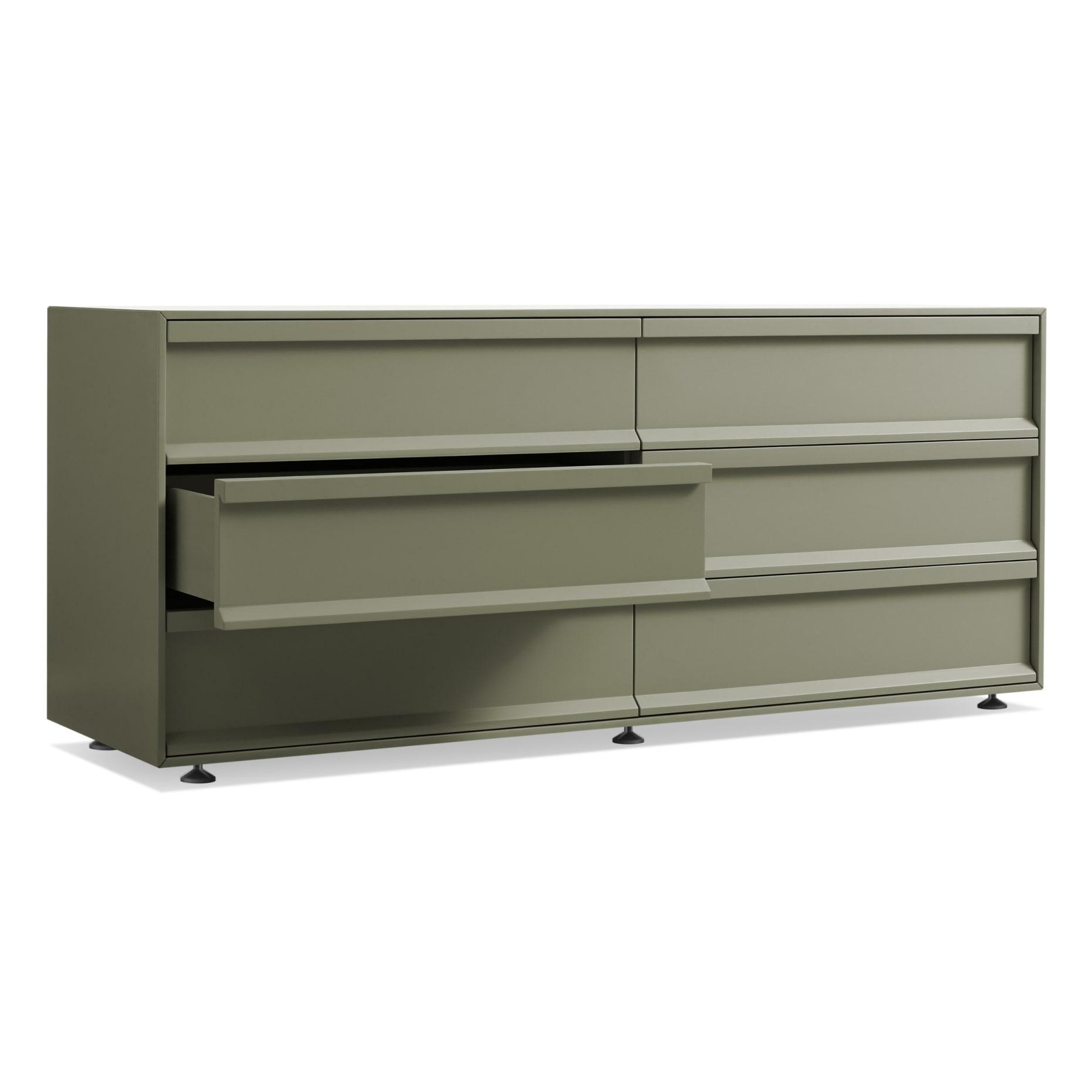 sc1 6drawr gg 34open superchoice 6 drawer dresser grey green