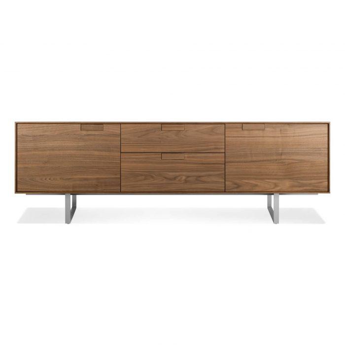 se1 2d2dcr wl series 11 2 door 2 drawer console walnut