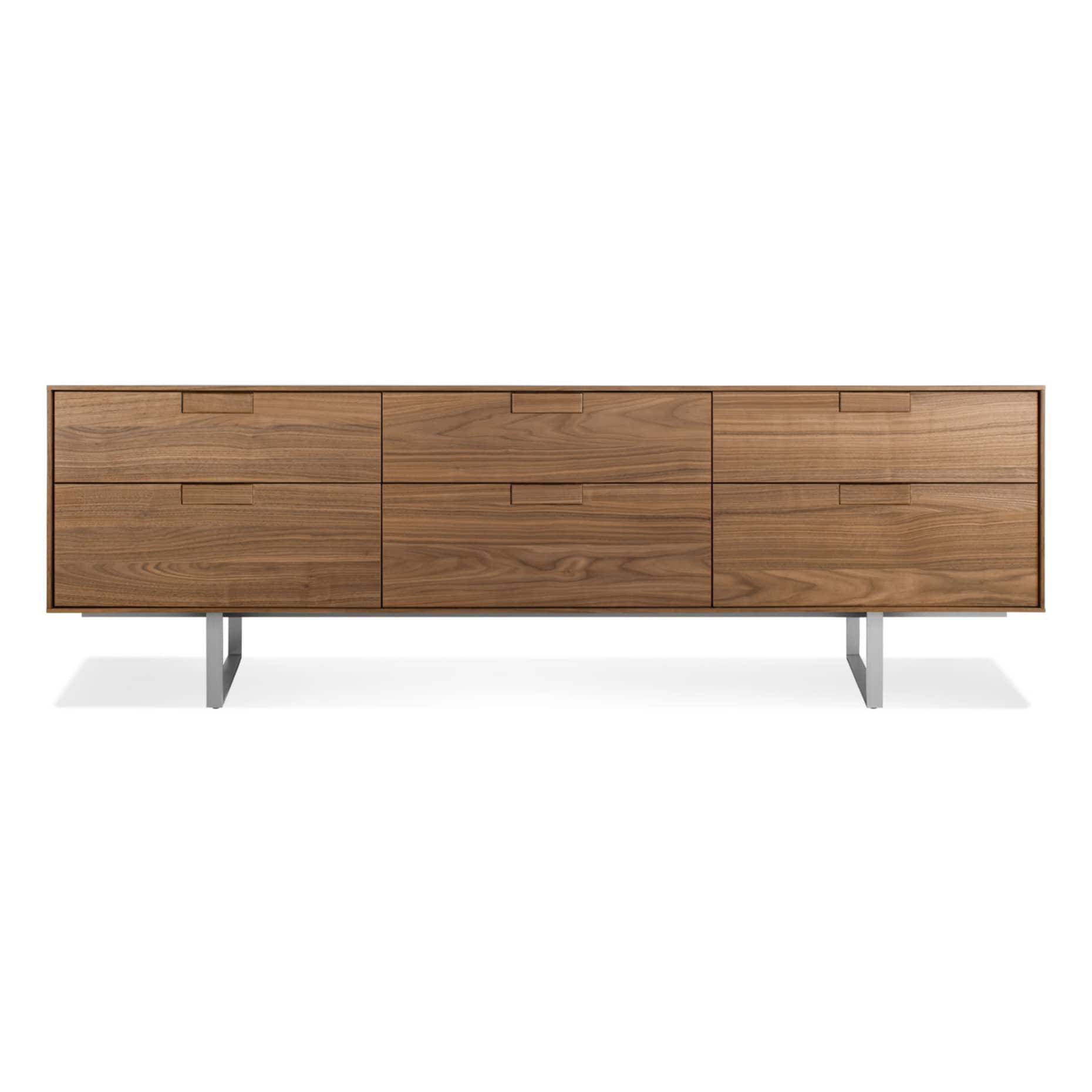 se1 6dwcon wl series 11 6 drawer console walnut