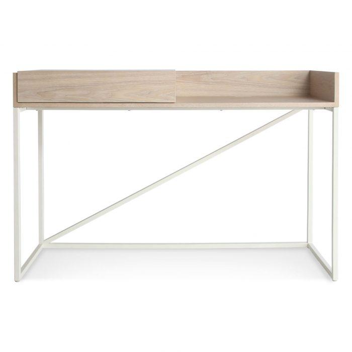 swish modern console desk white ash white 1