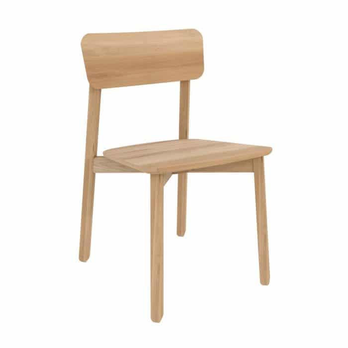 50653 Oak Casale chair without armrest 46x52x79 P high