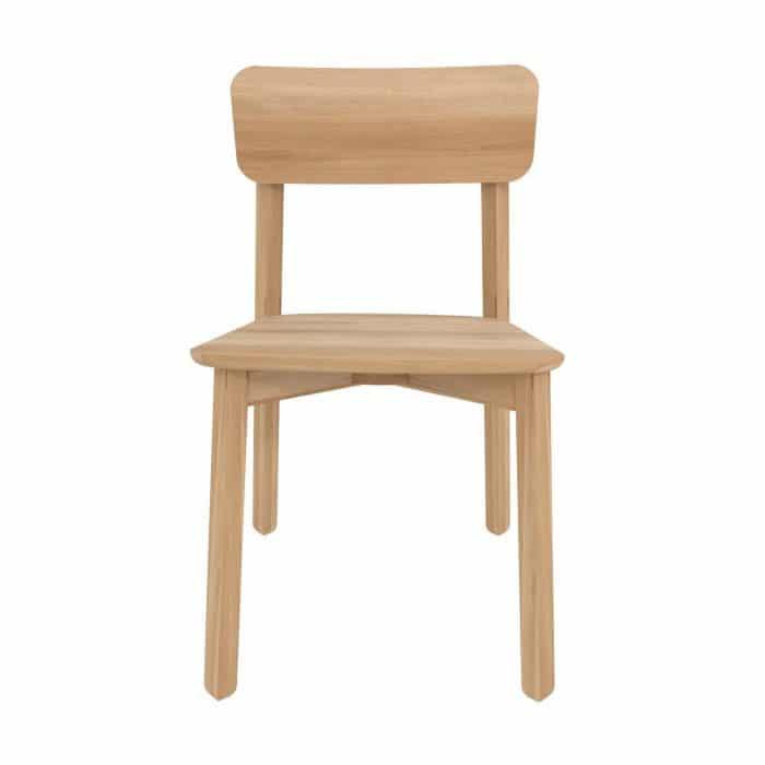 50653 Oak Casale chair without armrest 46x52x79 f high